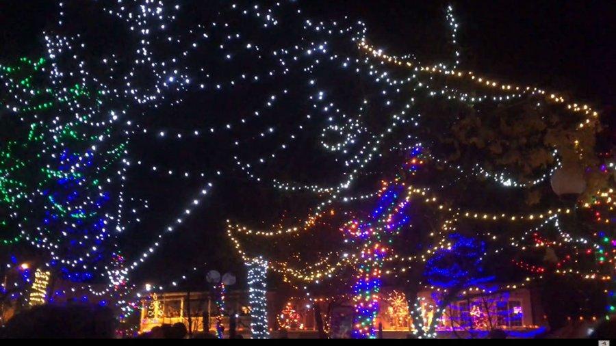 Lighting Of The Trees Ceremony 2017 Santa Fe, New Mexico Plaza
